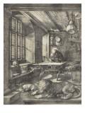 Saint Jérôme dans sa cellule Reproduction procédé giclée par Albrecht Dürer