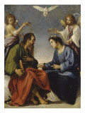 Saint Etienne and Paul Talking Crowned by Two Angels Giclée-tryk af Giovanni Baglione