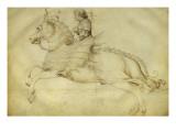 Cavalier sur palefroi au harnachement fantastique Giclee Print by Jacopo Bellini