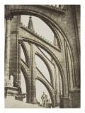 Cathédrale de Reims, arcs-boutants du chevet Giclée-Druck von Pierre Amédée Varin