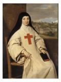 Portrait de mère Marie-Angélique Arnauld, dite la Mère Angélique (1591-1661) Gicléetryck av Philippe De Champaigne