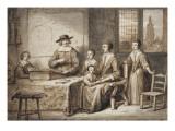 Portrait d'une famille hollandaise Lámina giclée por Ferdinand Bol