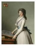 Portrait of Mary Broutin, Baroness Chalvet-Sonville Giclée-Druck von Francois Andre Vincent