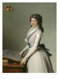 Portrait of Mary Broutin, Baroness Chalvet-Sonville Giclee Print by Francois Andre Vincent