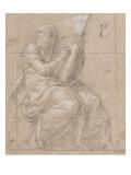 Prophète assis et écrivant sur une grande tablette posée sur ses genoux Giclee Print by Nicolò dell' Abate