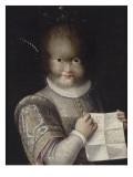 Portrait de Tonetta, fille de Gonsalvo Giclée-tryk af Lavinia Fontana