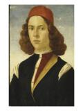 Portrait d'un jeune homme Giclée-tryk af Domenico Ghirlandaio