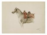 Cheval sellé, tourné vers la gauche Giclee Print by Antoine Alphonse Montfort