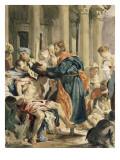 Saint Barnabas Healing the Sick, Study after Veronese Reproduction procédé giclée par Eugene Delacroix