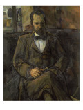Portrait of Ambroise Vollard (1865-1939), Art Dealer Giclee Print by Paul Cézanne