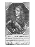 Portrait de Charles, comte d'Artagnan Giclee Print