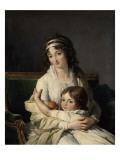 Portrait de madame Boyer-Fonfrède et de son fils Giclée-Druck von Francois Andre Vincent