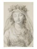 Portrait de mademoiselle Laure de Bonneuil Giclée-Druck von Elisabeth Louise Vigée-LeBrun