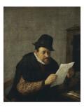 La lecture Giclée-Druck von Adrien Van Ostade