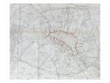 Avant projet de ligne métropolitaine centrale : plan général des voies ferr Gicléetryck av Alexandre-Gustave Eiffel