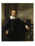 Portrait d'homme accoudé à une balustrade Lámina giclée por Ferdinand Bol