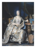 Portrait de la marquise de Pompadour (1721-1764) Reproduction proc&#233;d&#233; gicl&#233;e par Maurice Quentin de La Tour