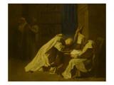 Saint Bruno en extase et trois autres moines Giclee Print by Jean Restout