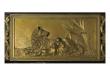 Romulus et Rémus, décor dans le montant de la cheminée du Salon bleu Giclee Print