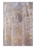 Rouen Cathedral, the Portal, Harmony Blue Morning Sun Giclee Print by Claude Monet