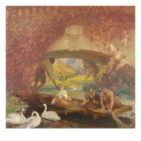Le poète Reproduction procédé giclée par Gaston De La Touche