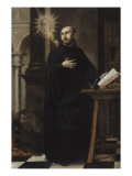 Saint Ignatius of Loyola Received the Name of Jesus Giclee Print by Juan de Valdes Leal