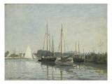 Bateaux de plaisance ,Argenteuil Giclee Print by Claude Monet