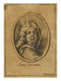 Portrait de Jean Jouvenet Giclee Print by Jean Restout