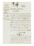 Purchase Deed by Joseph Bonaparte of Milelli Domains Giclee Print