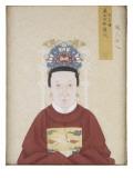 Portrait de la dame Zhao, épouse du vénérable Liu Zhong Giclee Print