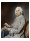 Portrait of Monsieur De Rozeville, Sitting on a Chair Giclee Print by Maurice Quentin de La Tour