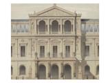 Projet de façade d'un bâtiment public : élévation Giclée-Druck von Marcellin Varcollier