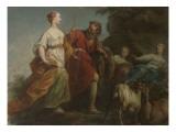 Psyché fuyant la colère de Vénus Giclee Print by Jean Restout