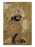 Prince Eugene Weeping over the Grave of His Mother. Giclee Print