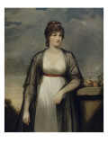Portrait de madame Home Reproduction procédé giclée par John Hoppner