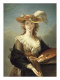 Portrait de Marie-Louise-Elisabeth Vigée-Le Brun (1755-1842), peintre Giclée-Druck von Elisabeth Louise Vigée-LeBrun