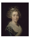Portrait de jeune femme Gicl&#233;e-Druck von Antoine Vestier
