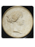 Plate Circular Profile Head of the Empress Eugenie Giclee Print by Alfred-Emilien de Nieuwerkerke
