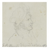 Portrait en buste de Murat Giclee Print by Georges Rouget
