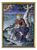 Plaque : saint Jean à Patmos Giclee Print by Pierre Reymond