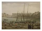Port de Dieppe Giclée-Druck von Claude Joseph Vernet