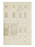 Moiti&#233; droite d&#39;une fa&#231;ade de palais Gicl&#233;e-Druck von Herman Vischer