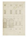 Moitié droite d'une façade de palais Giclée-Druck von Herman Vischer
