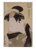 Portrait d'acteur de kabuki (okubi-e) : l'onnagata Segawa Kikunojô III Giclee Print by Tôshûsai Sharaku
