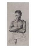 Portrait d'esclave de l'Ile Maurice Giclée-Druck von Hermann Vogel
