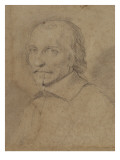 Portrait of a Man Bareheaded, Three-Quarters to Left Giclee Print by Philippe De Champaigne