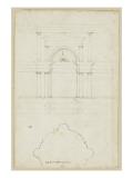 Portail d'une chapelle à Sienne Giclée-Druck von Herman Vischer