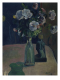 Roses et statuettes Giclee Print by Paul Gauguin