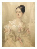 Portrait of the Princess Marie D&#39;Orleans (1813-1839) Giclee Print by Jean Baptiste Isabey
