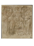 Receipt of a Knight in the Order of the Holy Spirit Giclee Print by Toussaint Dubreuil